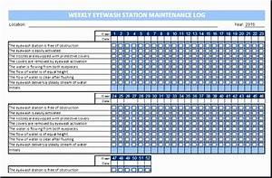 Work Log Template Excel 8 Eyewash Station Maintenance Log Excel Templates