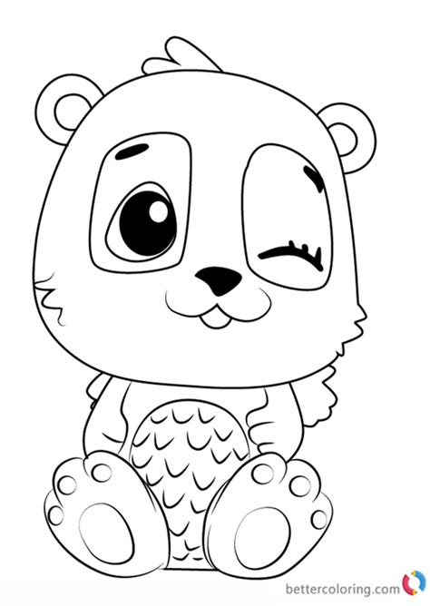 pandor  hatchimals coloring pages  printable