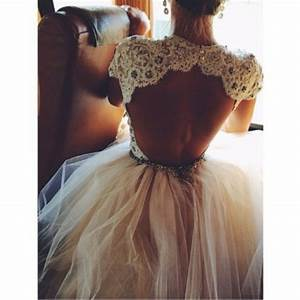 Dress: prom dress, glitter, open back prom dress, lace ...