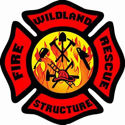 Firefighter Wildland Symbol Clipart Fire Rescue Maltese