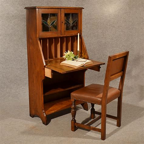bureau desk uk antique bureau writing study desk oak liberty quality