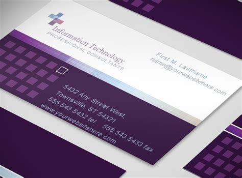information technology service consultant business card