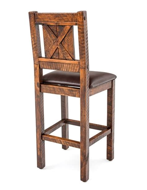 rustic bar stools barn wood bar stool solid wood stool