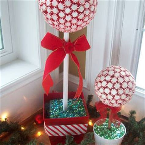 peppermint topiary tree diy christmas decorations tip