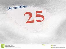 Calendar December 25Th Stock Image Image 6783001