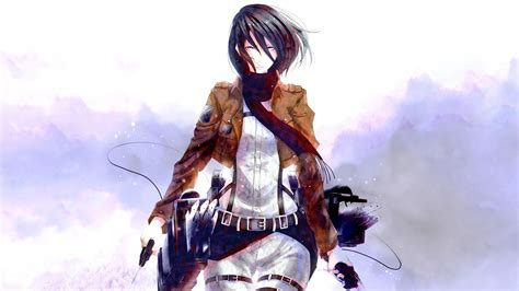 anime anime girls shingeki  kyojin mikasa ackerman