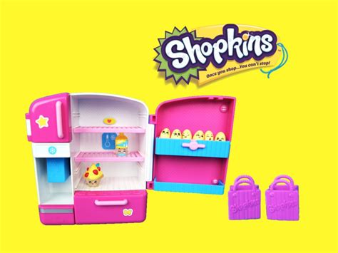 Shopkins So Cool Fridge With Soda And Strawberry And Cream