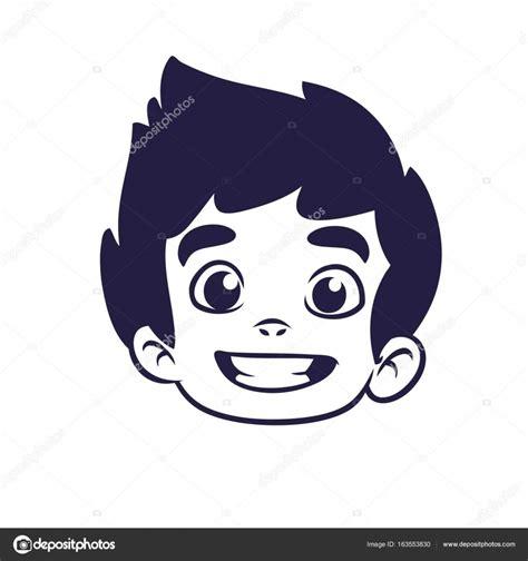 Imágenes Para La Cabeza Contorno Cabeza Del Niño Feliz
