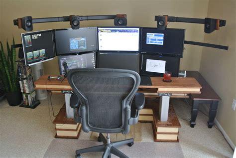 Desk: inspiring computer desk for multiple monitors ideas