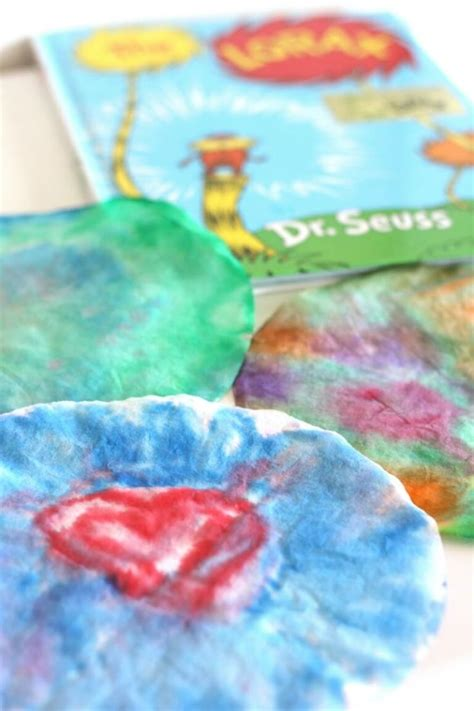 Frequent special offers and.a wide range of available colours in our catalogue: Tie Dye Coffee Filter Art for Dr. Seuss The Lorax   Coffee ...