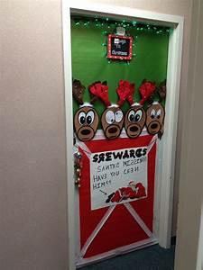 Christmas, Reindeer, Door, Decoration