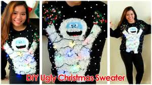 diy ugly christmas sweater 2014 abominable snowmonster