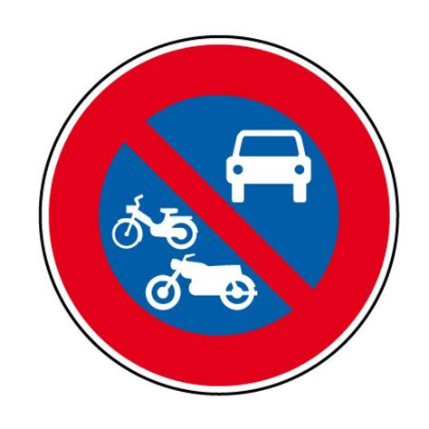 ci14 panneau interdiction de stationner aux autos motos panneau stationnement panneau de