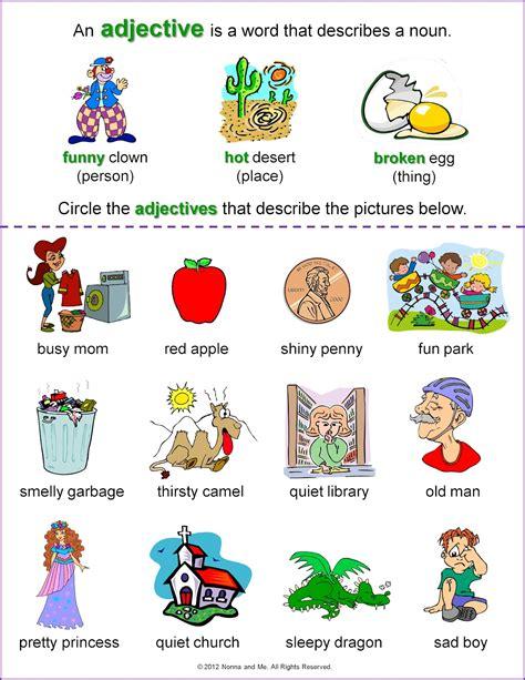 arab unity school grade 1 c adjectives