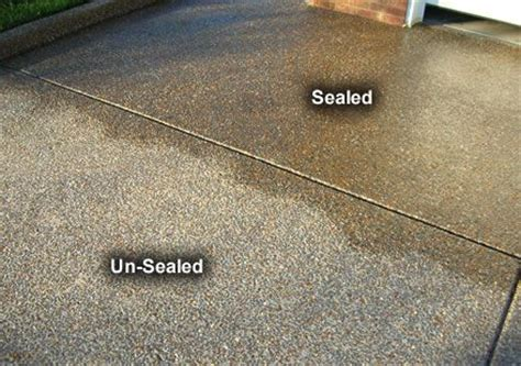 look acrylic sealer on aggregate concrete exterior