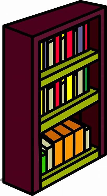 Clipart Transparent Bookshelf Shelf Bookcase Books Club