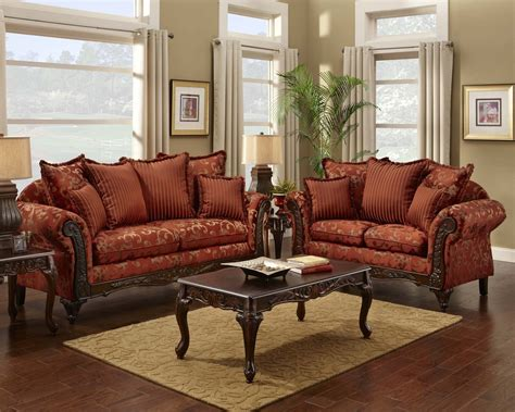 fashion living room set floral print sofa and loveseat traditional sofa set
