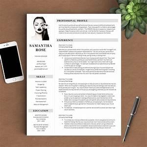 Modern Resume Template The Samantha Rose