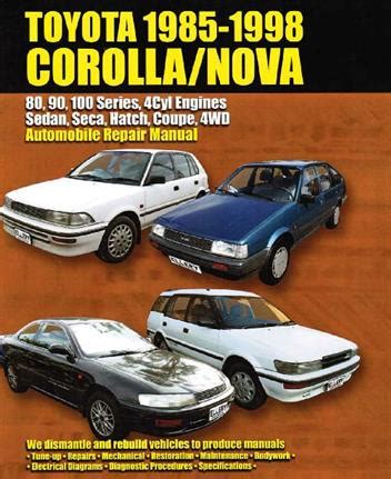 best car repair manuals 1992 toyota corolla navigation system toyota corolla holden nova sedan seca hatch 1985 1998 0646120808 9780646120805 max ellery