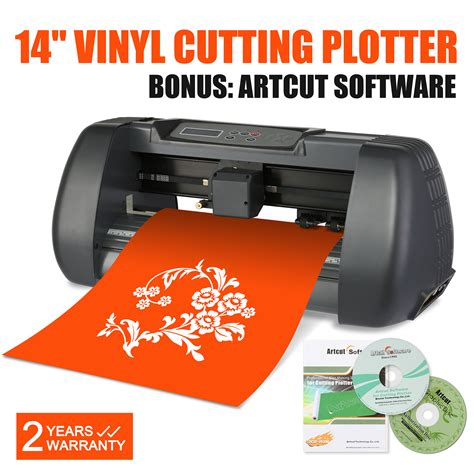 vinyl cutter plotter 14 inch cutting plotter printer sign maker signcut ebay
