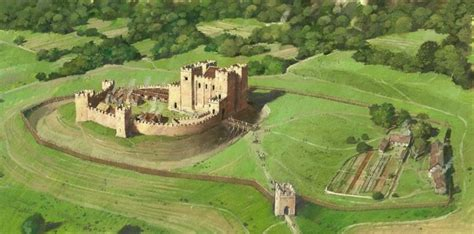 kenilworth castle  reconstruction drawing