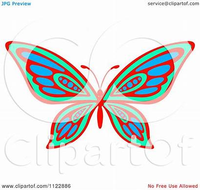 Butterfly Vibrant Illustration Vector Clipart Royalty Tradition