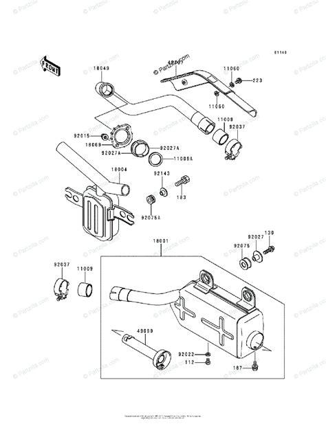 Kawasaki Atv Oem Parts Diagram For Muffler
