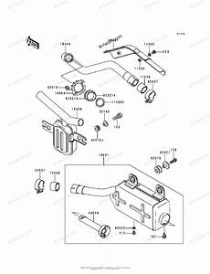 Kawasaki Atv 1991 Oem Parts Diagram For Muffler S