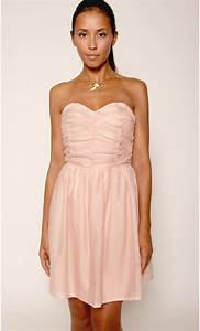 robe bustier voile et crepe mondefilecom With robe bustier rose