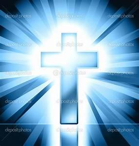 Blue christian cross symbol — Stock Photo © pixeldreams ...