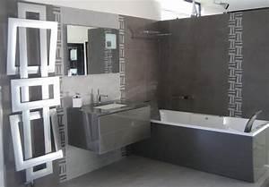 deco salle de bain grise salles de bains pinterest With idee salle de bain grise