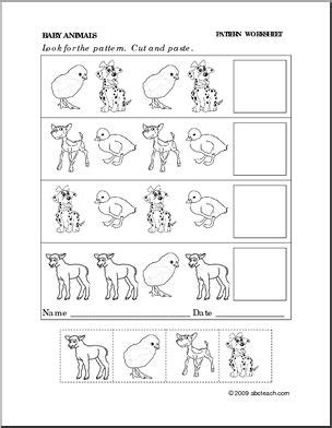 cut and paste pattern worksheets cut and paste pattern