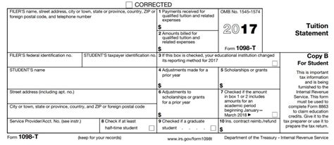 tax form from college for tuition irs 1098 t tax form for 2017 suny westbury