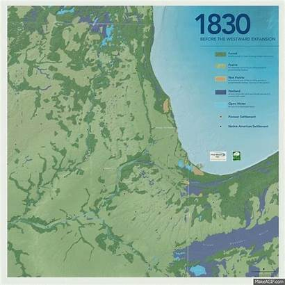 Chicago Urbanisation 1830 Carte 2030 Populationdata Menschen