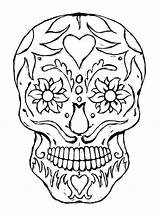 Skull Sugar Corner Coloring Crafty Carren Pages Skulls Adult Candy Adults Mexican Designs Stencil Printable Colouring Patterns Stencils Sheet February sketch template