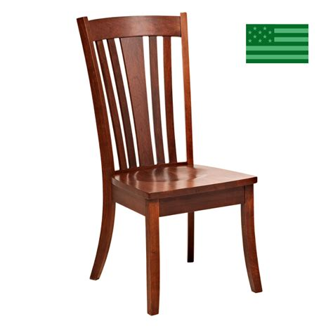 made in america dining chairs amish solid wood heirloom
