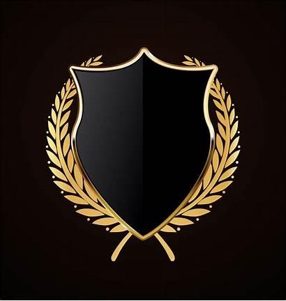 Shield Vector Golden Retro Gold Vectors Laurel