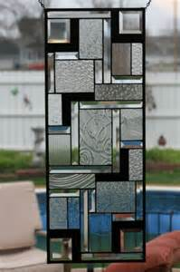 Black and White Stained Glass Window