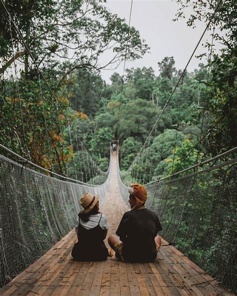 rute tranportasi menuju  gunung  jembatan gantung