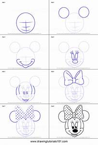 How to Draw Minnie Mouse Face from Mickey Mouse Clubhouse ...