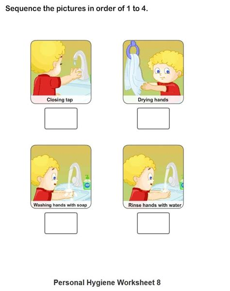 personal hygiene worksheets for collection 1 8