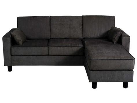 canape d angle en cuir chez conforama canapé d 39 angle réversible 3 places en tissu logan coloris