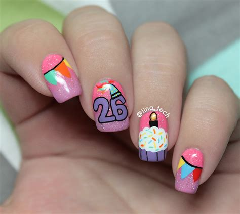 birthday nail designs then and now birthday nail tina tech