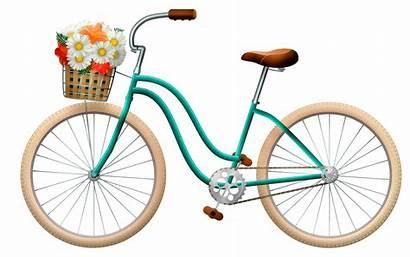 Bicycle Background Basket Bike Flowers Illustration Woman