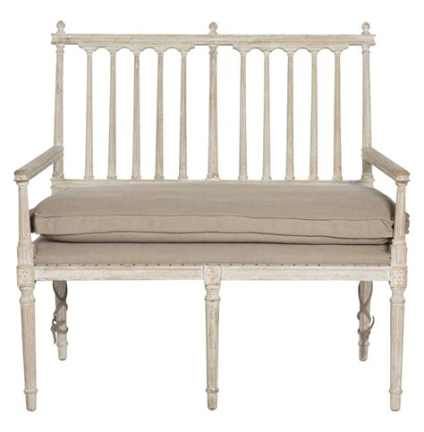 White Settee Bench coyle shabby antique white settee dining bench
