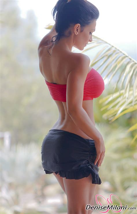 milani denise tits melon candid workout