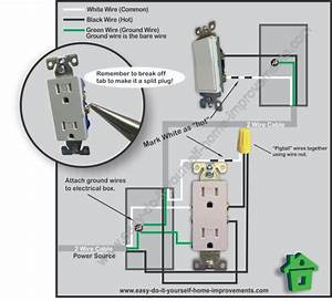 How To Wire A Switch And Outlet