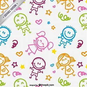 Kids drawings pattern Vector | Free Download