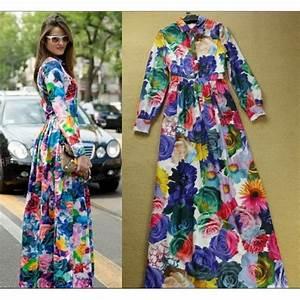 robe chic bleu robe de soiree longue robe imprimee With chambre bébé design avec robe ceremonie fleurie