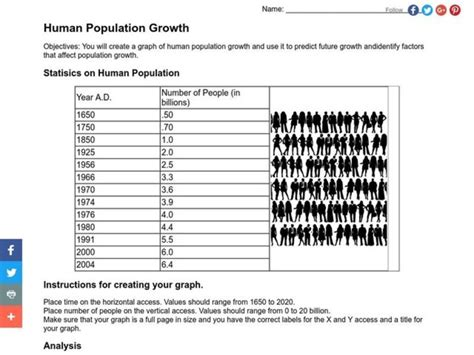 population growth worksheet worksheets tataiza free